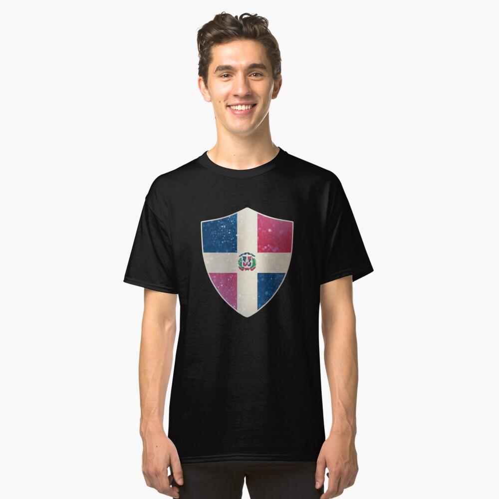 Dominican Flag Shield Classic T-Shirt