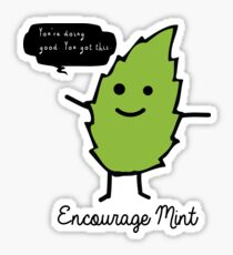 Encourage Mint Sticker