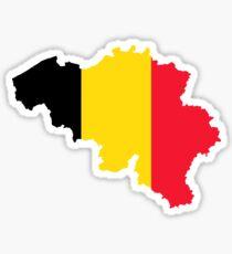 Belgien Flagge Karte Sticker