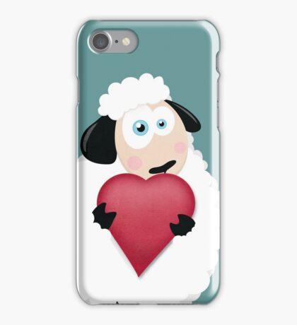 I Love Ewe (blue) iPhone Case/Skin