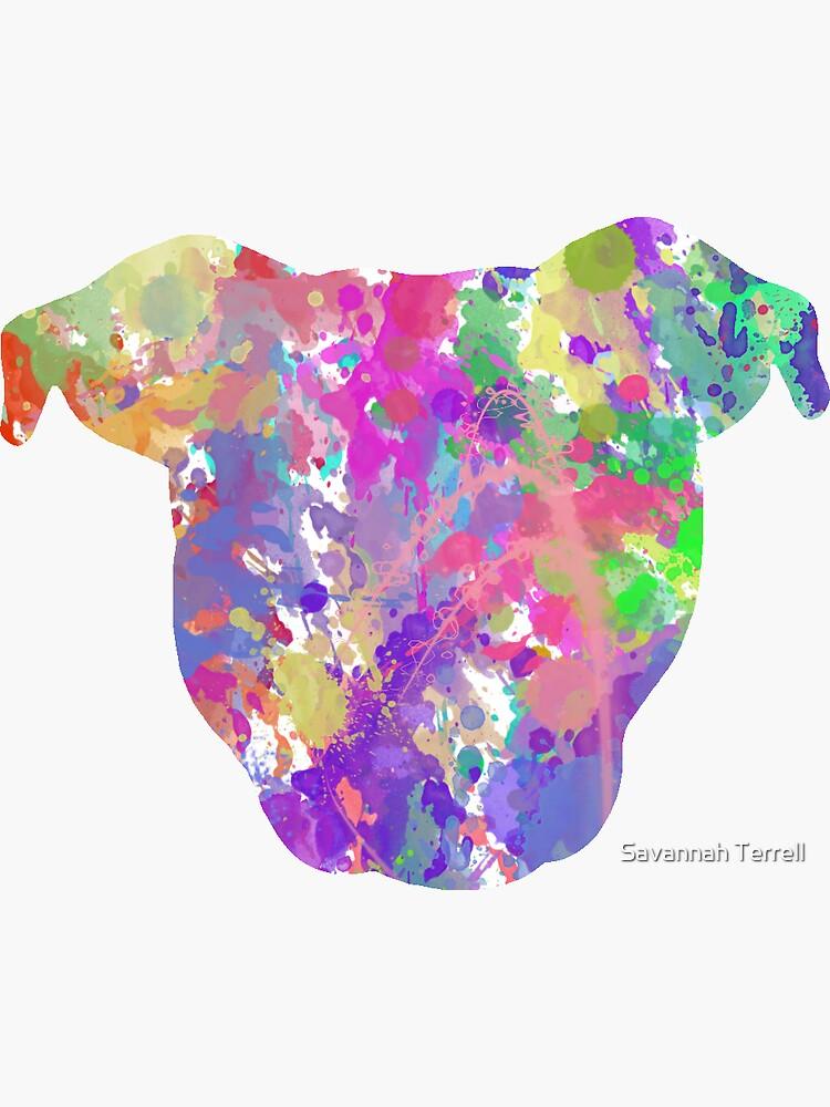 Paint Splatter Pittie by ShelterStaffie