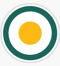 Scandi Midcentury Modern Retro Geometric Fried Egg Sticker