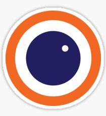 Scandi Midcentury Modern Retro Geometric Blueberry Sticker