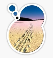 Cross country skiing | winter wonderland | landscape photography Sticker