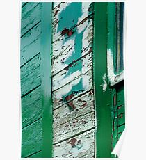 Peeling flaking paint on Green Train trailer Poster