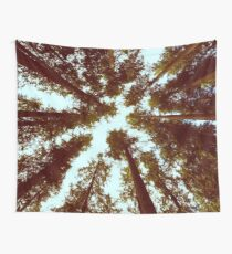 Waldhimmel - Weinlese-Bäume Wandbehang