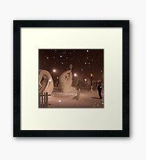 Snow Sculptures, Breck. Framed Print