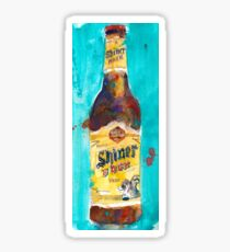 Shiner Block Beer Sticker