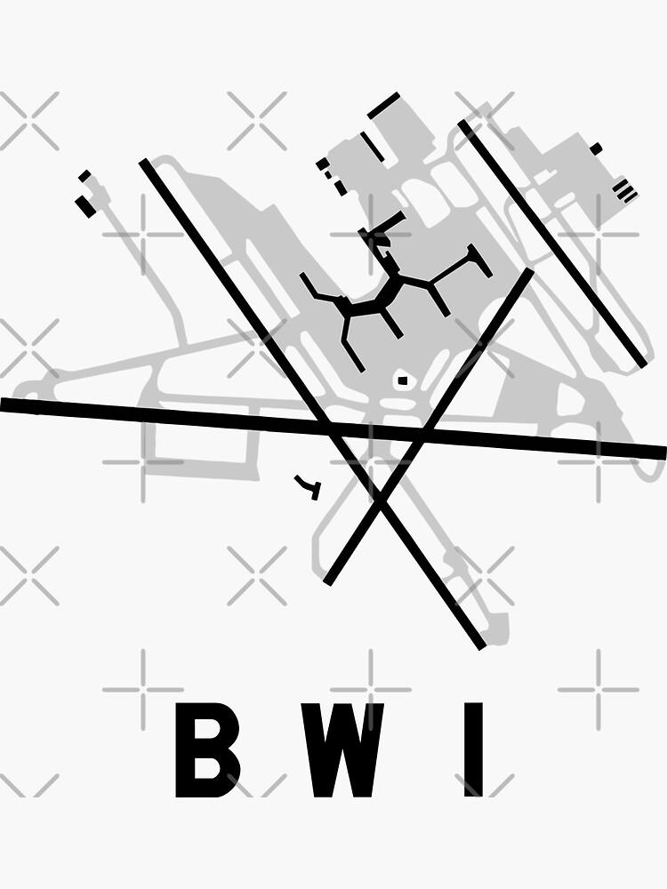Baltimore Airport Diagram Sticker By Vidicious