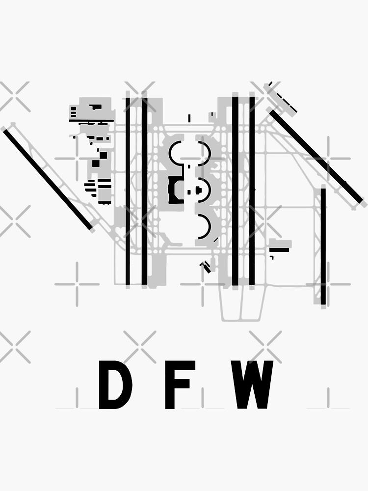Dallasfort Worth Airport Diagram Sticker By Vidicious