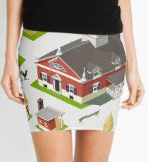 Isometric Great American Barn Set Mini Skirt