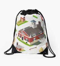 Isometric Great American Barn Set Drawstring Bag