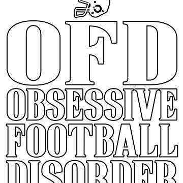 Obsessive Football Disorder Funny T shirt Present for Men by GabiBlaze