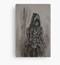 Nightingale Armour Watercolour Canvas Print