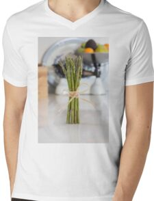 Asparagus Mens V-Neck T-Shirt