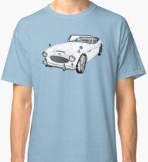 Austin Healey 300 Sports Car Drawing Classic T-Shirt