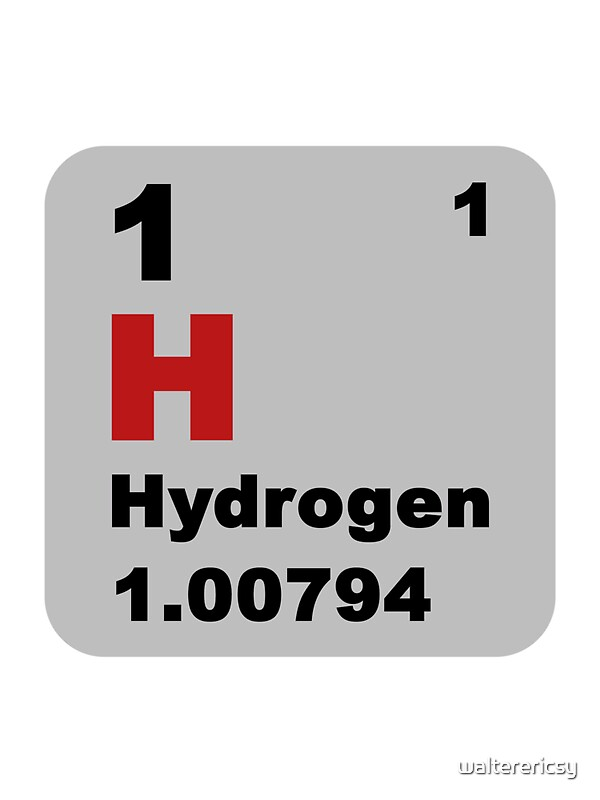 Periodic table of elements no 1 hydrogen stickers by walterericsy redbubble - Hydrogen on the periodic table ...