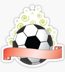 soccer ribbon with green curls in the air Sticker