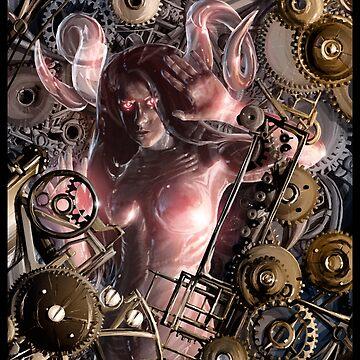Glass Robot Steampunk Illustration 001 by Sokoliwski