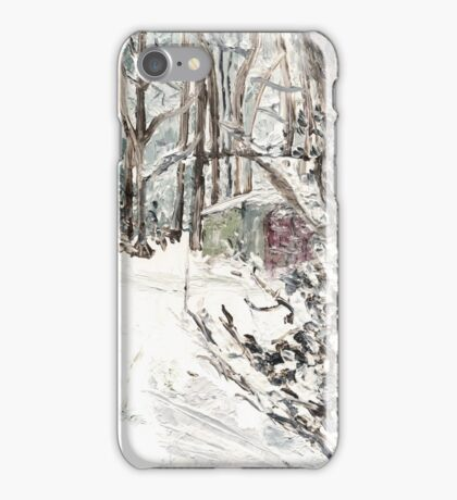 Toolshed at Woods' Edge, in Snow iPhone Case/Skin