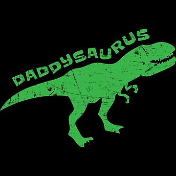 Daddysaurus Dinosaur Dad Fathers Day Apparel by CustUmmMerch
