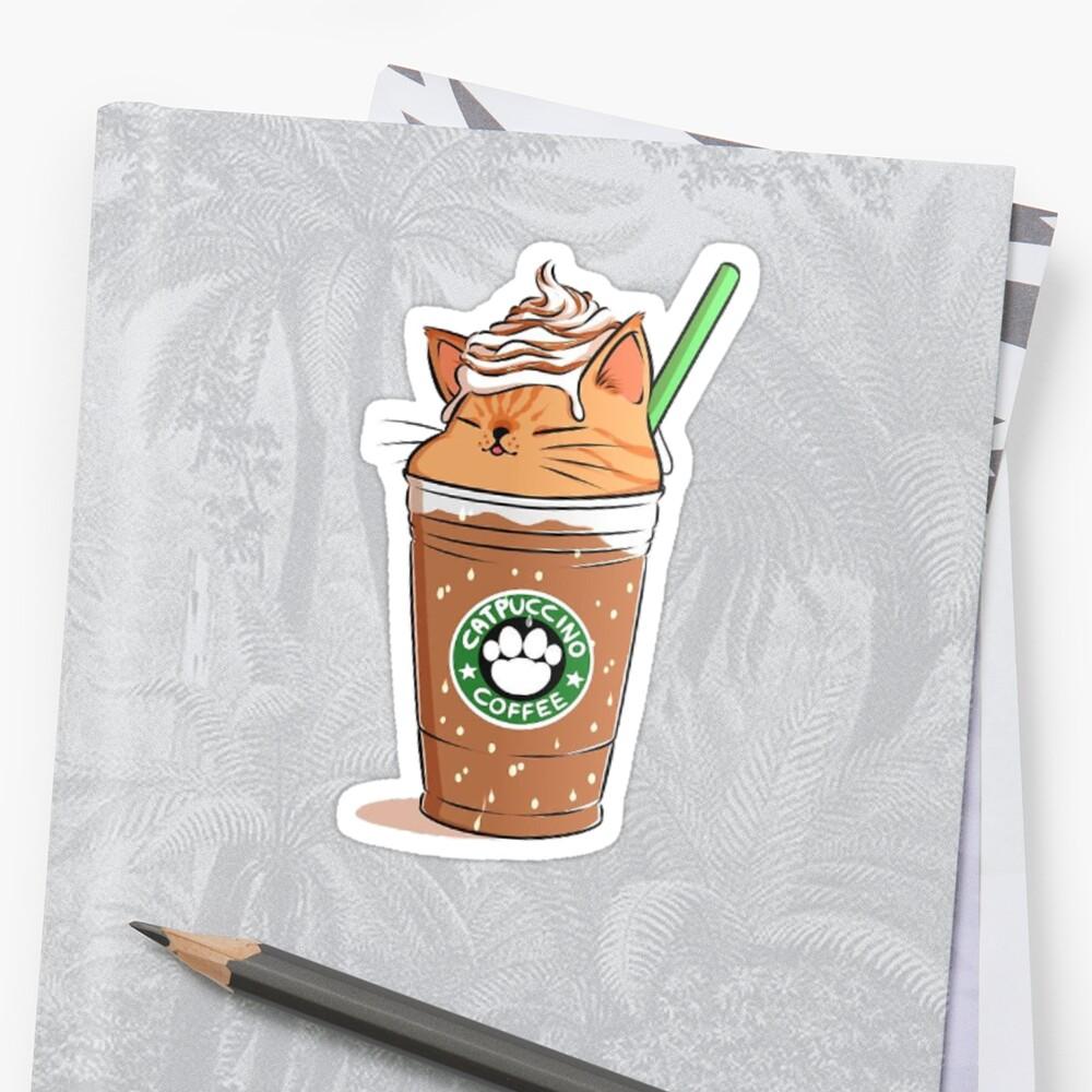 Catpuccino-Kaffee Sticker