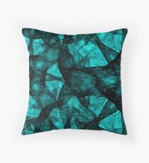 Fractal Art Turquoise G52 Throw Pillow