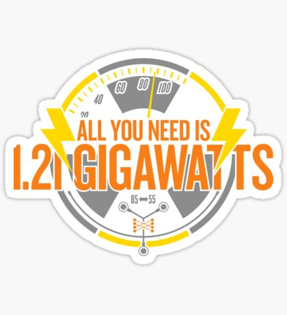 All You Need Is 1.21 Gigawatts Glossy Sticker
