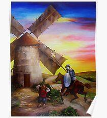 Don Quixote's Windmill Adventure Poster