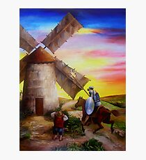 Don Quixote's Windmill Adventure Photographic Print