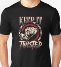 "Biker T-Shirt ""Keep It Twisted"" Funny Motorbike Gift Slim Fit T-Shirt"