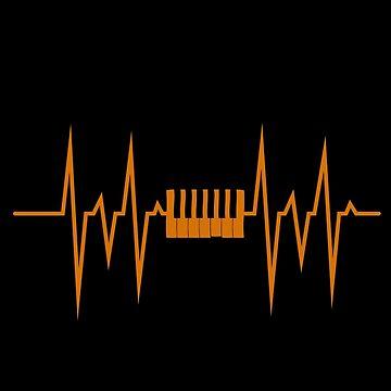 Piano pulse by GeschenkIdee