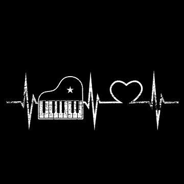 Piano heart by GeschenkIdee
