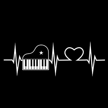 Piano music heart by GeschenkIdee