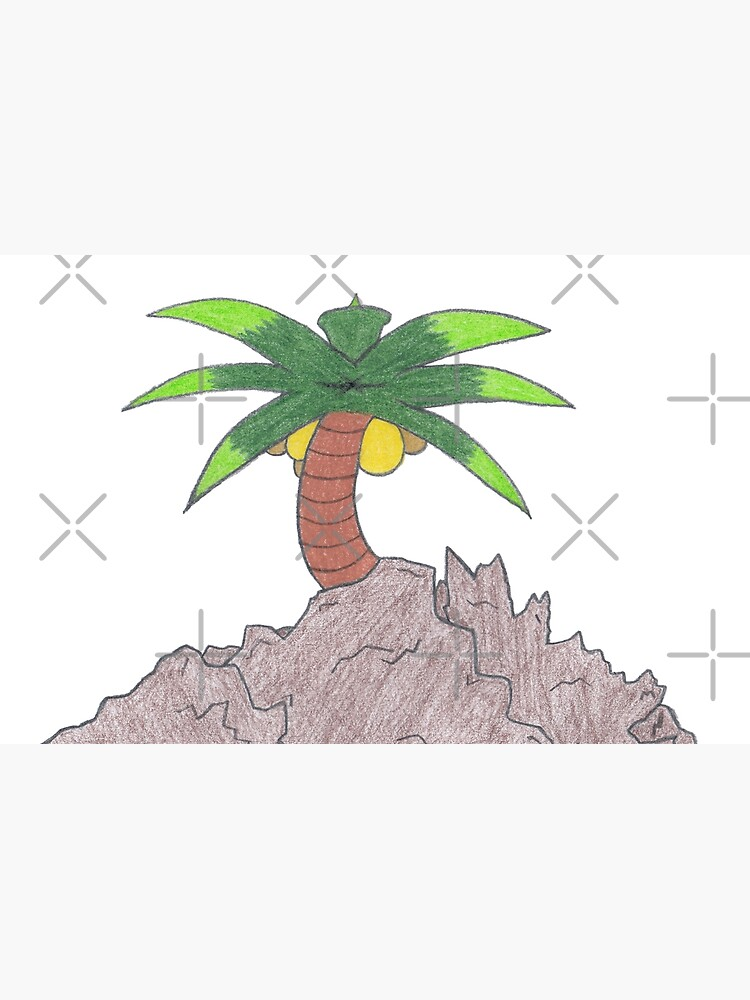 Merch #19 -- Palm Atop The Rugged Embankment by Naean