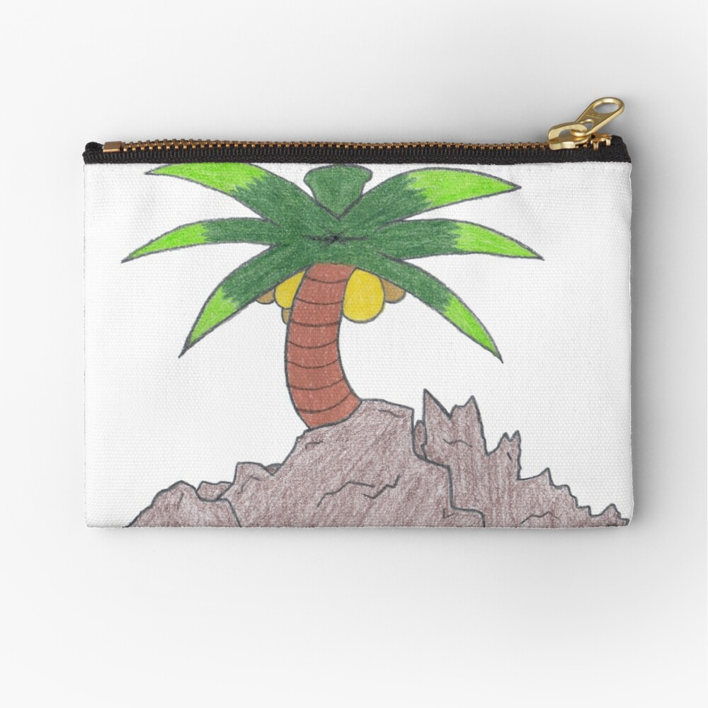 Merch #19 -- Palm Atop The Rugged Embankment Zipper Pouch