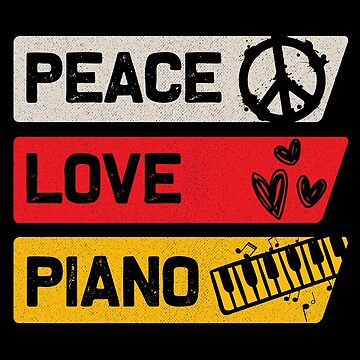 Peace Piano by GeschenkIdee