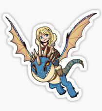 Astrid + Stormfly sticker Sticker
