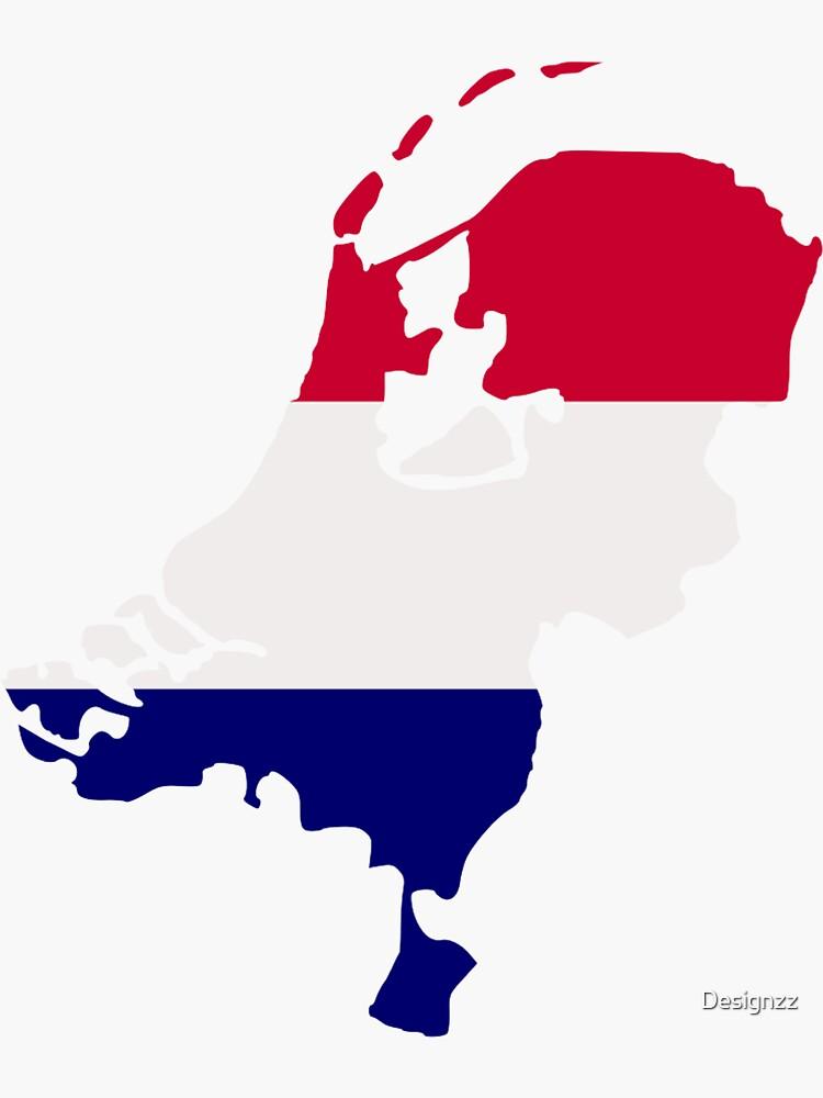 Bandera de mapa de Holanda de Designzz