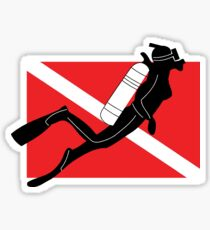 Women's SCUBA Diving Sticker