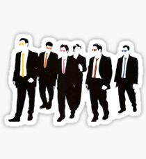 Reservoir Dogs with colored ties and glasses Sticker