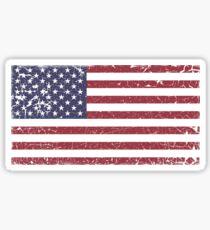 Pegatina Vintage Look Stars and Stripes Bandera estadounidense