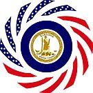 Virginian Murican Patriot Flag Series by Carbon-Fibre Media