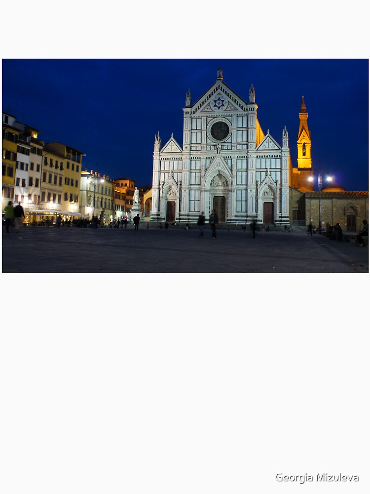 Blue Hour - Santa Croce Church in Florence, Italy by GeorgiaM