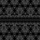 Floral Lace, Gray on Black by Etakeh