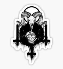 Satan Gets Ahead Sticker