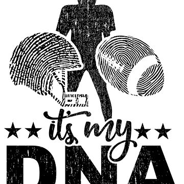 Is In My DNA Fingerprint Helm Ball Football Gift by NiceTeee
