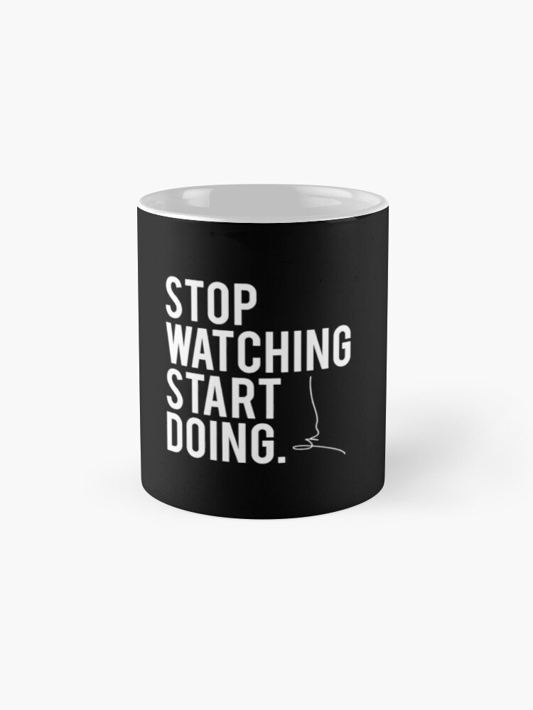 Vista alternativa de Tazas Gary Vaynerchuk / Gary Vee - Deja de mirar Comienza a hacer - BLANCO