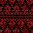 Floral Lace, Red on Black by Etakeh