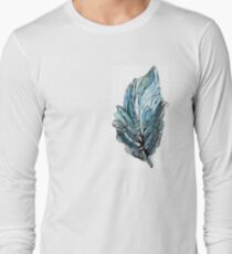 Watercolor Ink Feather Abstract Long Sleeve T-Shirt